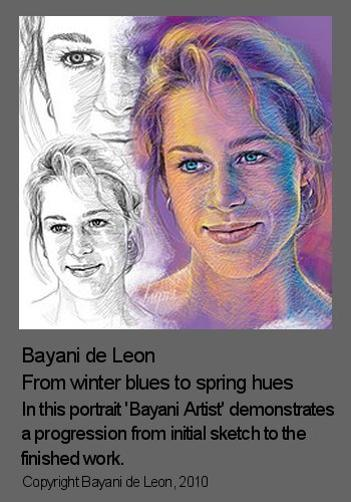 Composition in portraits illustrated by Bayani de Leon