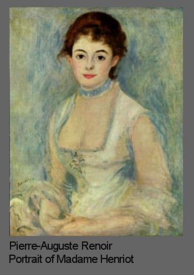 Composition in portraits illustrated by Renoir