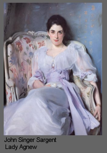 Painting a likeness demonstrated by Singer Sargent Lady Agnew