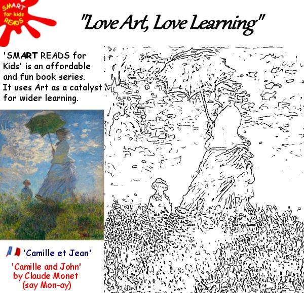 Free Kids Childrens Coloring Colouring in of Famous Art Monet
