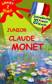 Example cover of children's educational Art book on Monet and learning French