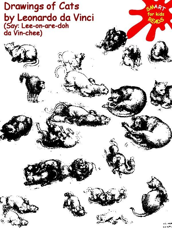Color in Leonardo da Vinci's cats for Kids / Children