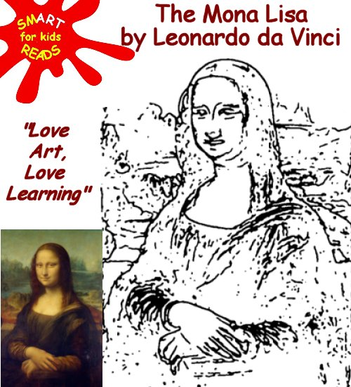 Colour Color in the Mona Lisa by Leonardo da Vinci for Kids