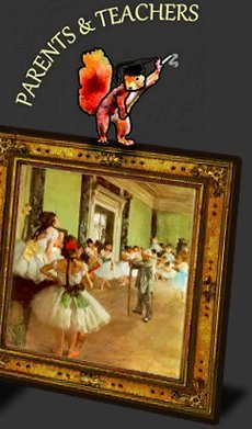 Degas Ballet Class link to teachers & homeschoolers resources for chidlren's educational Art books