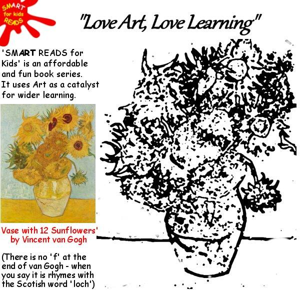 Color In Van Gogh For Kids Children Sunflowers